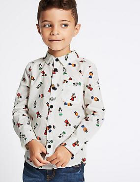 Pure Cotton All Over Print Shirt (3 Months - 6 Years)