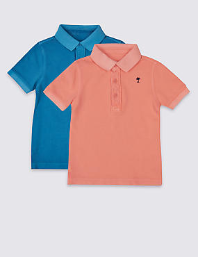 2 Pack Pure Cotton Polo Shirt (3 Months - 5 Years)