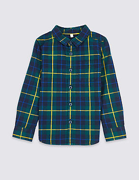 Pure Cotton Checked Shirt (3 Months - 6 Years)