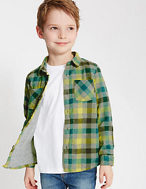 Checked Long Sleeve Shirt (1-7 Years)