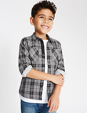 Pure Cotton Checked Shirt (1-7 Years)