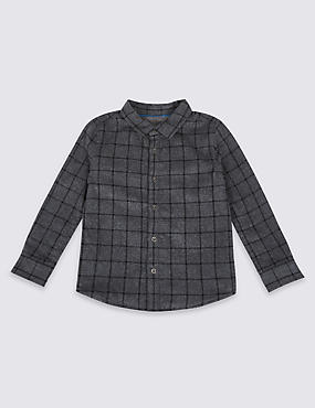 Pure Cotton Textured Shirt (3 Months - 6 Years)