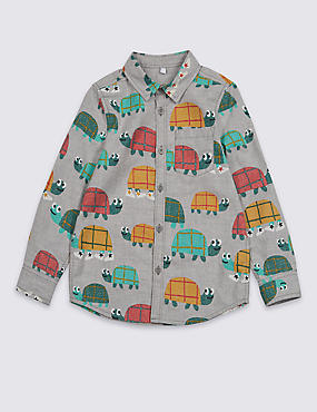 Pure Cotton Printed Shirt (3 Months - 7 Years)