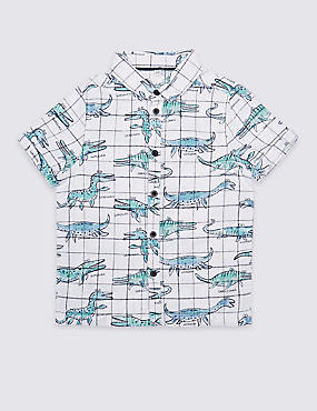 Cotton Blend All Over Print Shirt (3 Months - 7 Years)