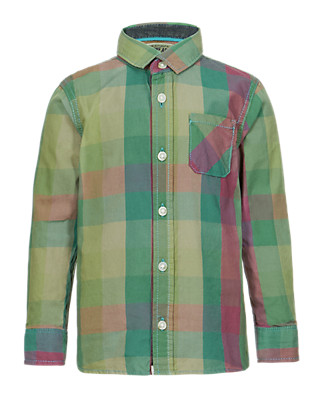 Pure Cotton Multi-Checked Shirt (1-7 Years) Clothing