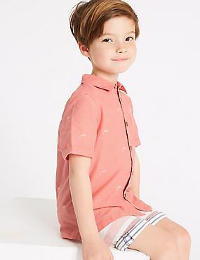 Linen Rich Shirt (3 Months - 7 Years), PINK MIX, catlanding