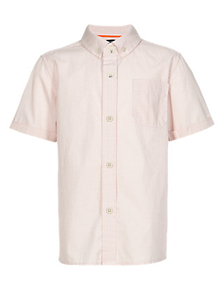 Pure Cotton Textured Shirt Clothing