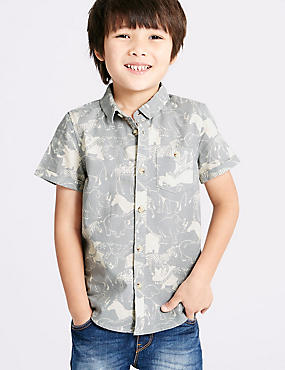 Pure Cotton Printed Shirt (3 Months - 5 Years)