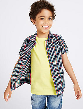 Cotton Rich Checked Shirt (3 Months - 5 Years)