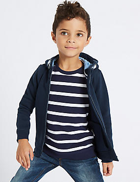 Hooded Sweatshirt (3 Months - 7 Years), NAVY, catlanding