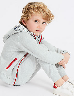 Sporty Hooded Top (3 Months - 7 Years), LIGHT GREY, catlanding