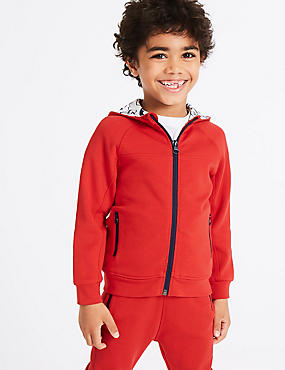 Cotton Rich Zip Through (3 Months - 7 Years), RED, catlanding