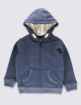 Cotton Rich Hooded Top (1-7 Years)