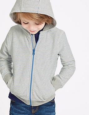 Pure Cotton Hooded Top (3 Months - 7 Years), MULTI, catlanding