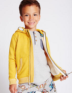 Cotton Rich Hooded Zip Through Top (1-7 Years)