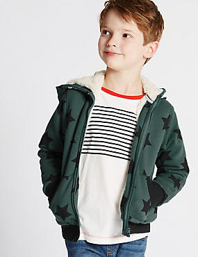 Star Print Hooded Top (1-7 Years)