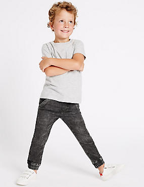 Cotton Rich Cuffed Jeans (3 Months - 5 Years), GREY MIX, catlanding