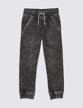 Cotton Rich Cuffed Jeans (3 Months - 5 Years)