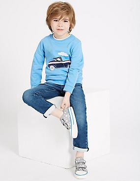 Cotton Rich Jogger Jeans (3 Months - 7 Years), MULTI, catlanding