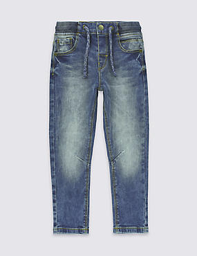 Cotton Pull On Jeans with Stretch (3 Months - 5 Years)