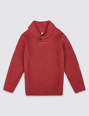 Cotton Rich Long Sleeve Jumper (3 Months - 6 Years)