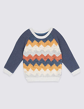Printed Long Sleeve Jumper (3 Months - 5 Years)