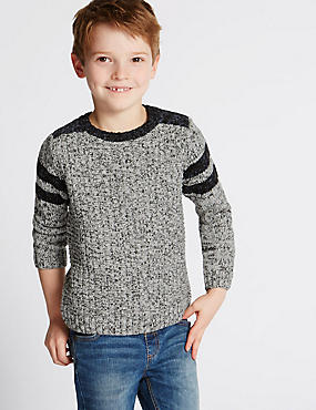 Mixed Stitch Jumper (1-7 Years)