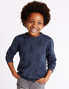 Pure Cotton Anchor Jumper (1-7 Years)