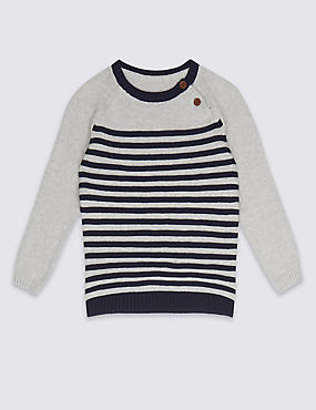 Pure Cotton Striped Jumper (3 Months - 5 Years)