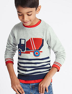 Pure Cotton Truck Jumper (1-7 Years)