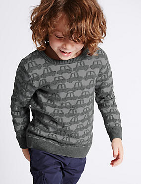 Car Jacquard Jumper (1-7 Years)