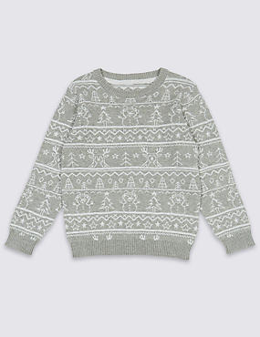 Pure Cotton Printed Jumper (3 Months - 6 Years)