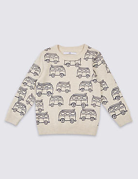 Pure Cotton All Over Print Jumper (3 Months - 5 Years)