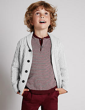 Cotton Rich Chunky Cardigan (1-7 Years)