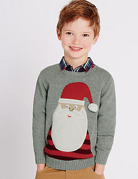 Pure Cotton Santa Jumper (1-7 Years)