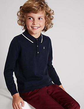 Polo Knitted Jumper with Merino Wool (1-7 Years)