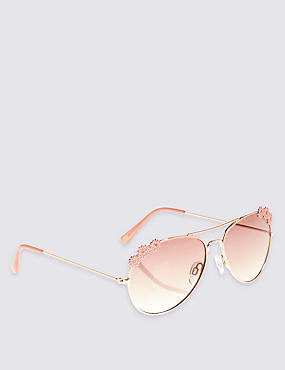 Kids' Flower Aviator Sunglasses (Older Girls)