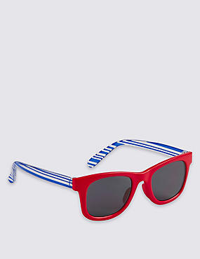 Kids' Striped Sunglasses (Younger Boys)