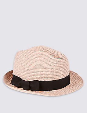 Kids' Glitter Packable Trilby Hat