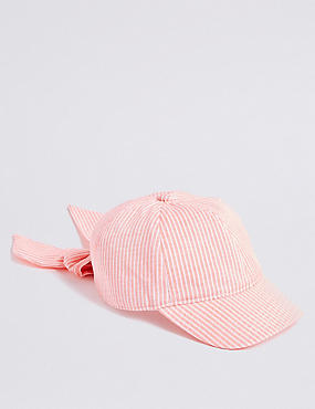Kids' Striped Bow Baseball Cap (3-14 Years)