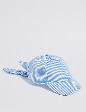 Kids' Striped Bow Baseball Cap (3-16 Years)