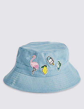 Kids' Cotton Rich Badge Summer Hat