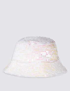 Kids' Sequin Pull On Hat