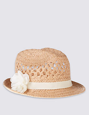 Kids' Corsage Trilby Hat