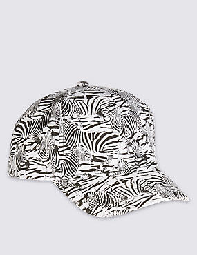 Kids' Pure Cotton Animal Print Baseball Cap