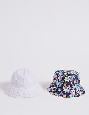 2 Pack Summer Hats (3 Months - 6 Years), MULTI, catlanding