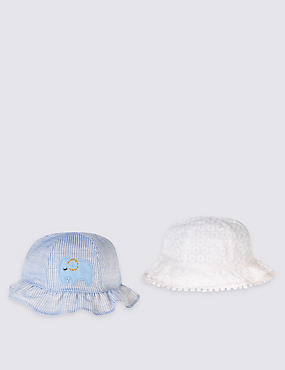 Baby 2 Pack Pure Cotton Hats