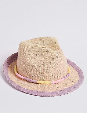 Kids' Straw Summer Hat (6 Months - 6 Years), TAN, catlanding