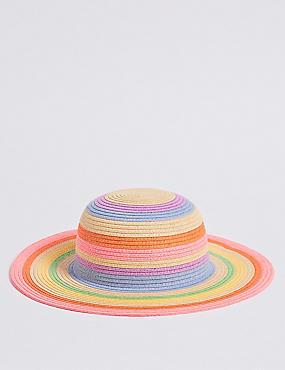 Kids' Straw Floppy Hat (6 Months - 6 Years), TAN, catlanding