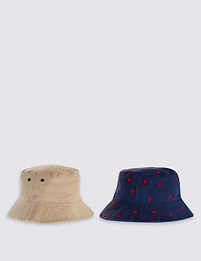 Kids' 2 Pack Pure Cotton Assorted Hats